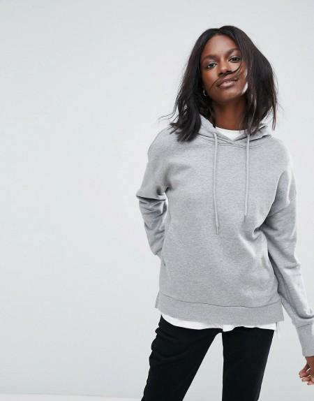 Vero Moda - Sweater mit Kapuze - Grau