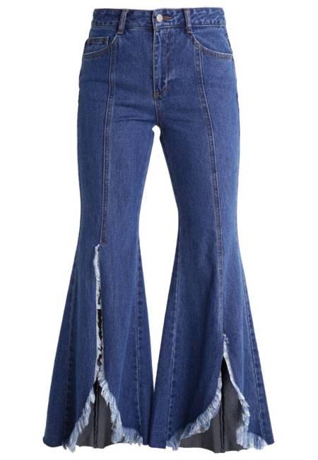 Steve J & Yoni P / SJYP: Flared Jeans - dark blue