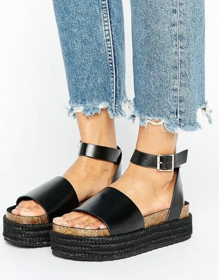 ASOS - FERGIE - Zweiteilige Sandale - Schwarz