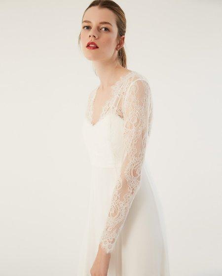 IVY & OAK: Brautkleid mit Corsagentop und Spitze
