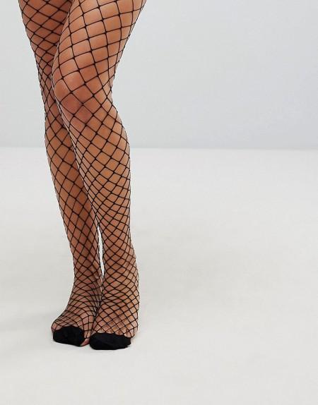 Vero Moda - Netzstrumpfhose - Schwarz