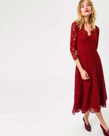 IVY & OAK: Lace Flared Dress Midi