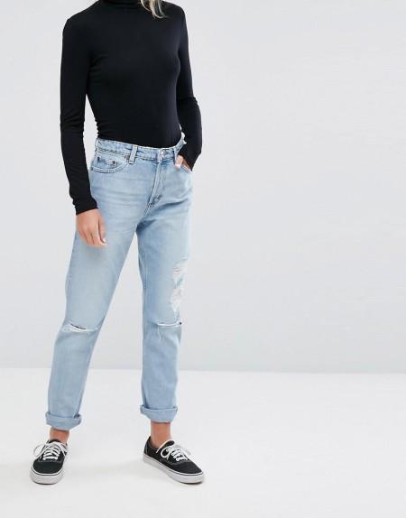 Monki - Imoo Disorted - Jeans - Blau