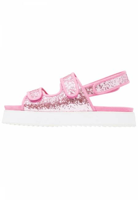 Shellys London: DAMARA - Plateausandalette - pink glitter