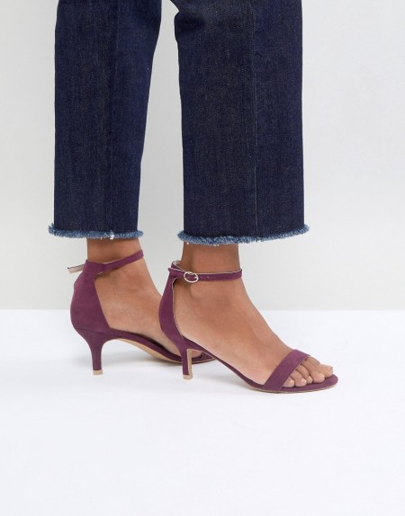 Glamorous - Barely There - Burgunderrote Sandalen mit Pfennig-Absatz - Rot