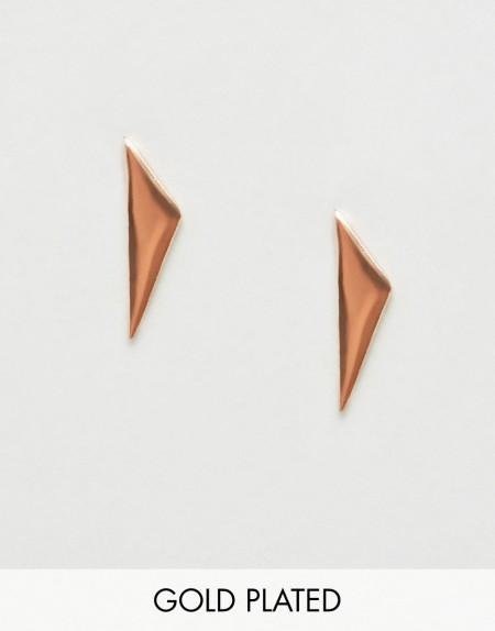 Liars & Lovers - Rosévergoldete Triangel-Ohrstecker - Gold