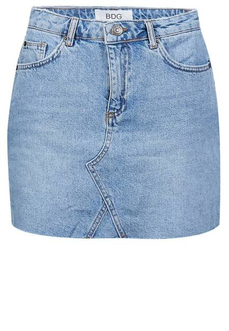 Urban Outfitters: Jeansrock - light blue