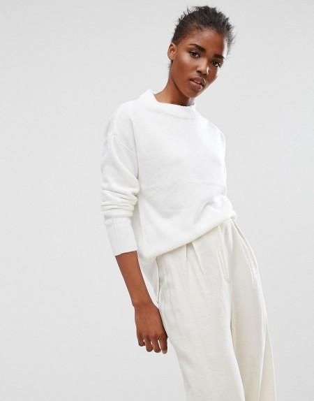 b.young: b.Young - Klassisches Sweatshirt - Weiß