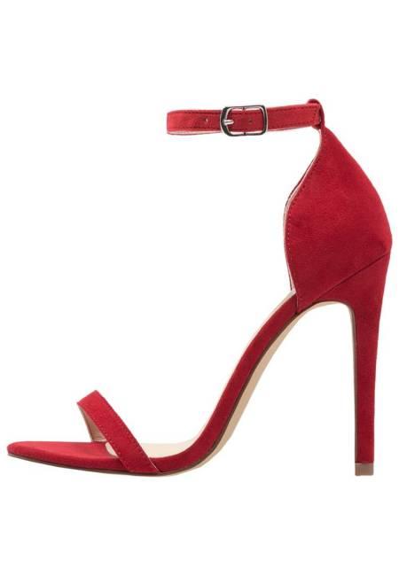 Even&Odd: High Heel Sandaletten - red