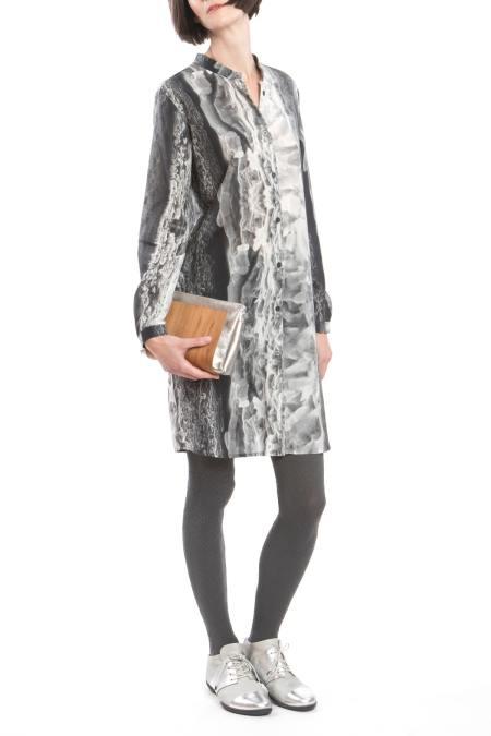 Clara Kaesdorf: Shirtdress Ice-Crystal Print