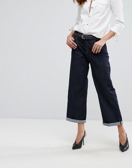 Replay - Basinkim - Jeans mit weitem Bein mit Umschlag - Blau