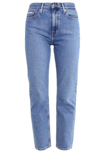 Calvin Klein Jeans: HIGH RISE STRAIGHT ANKLE - Jeans Straight Leg - vintage light