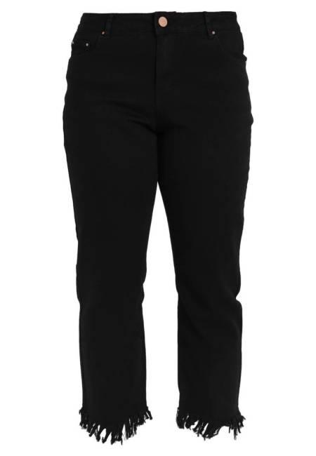 Lost Ink Plus: Jeans Straight Leg - black