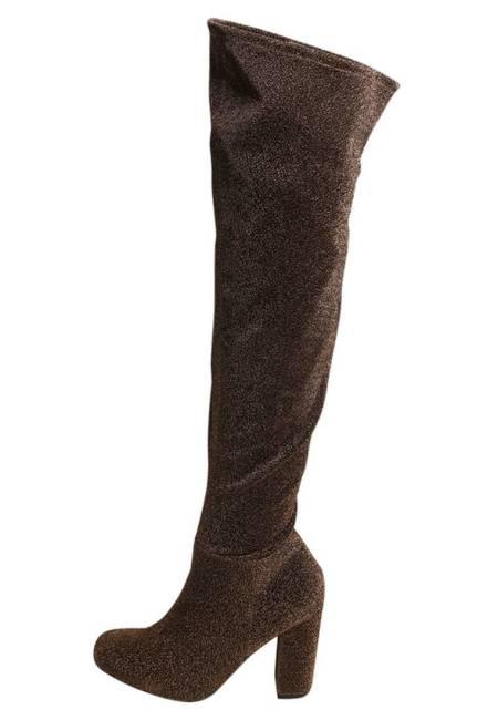 Steve Madden: OWNEEX - High Heel Stiefel - bronze glitter
