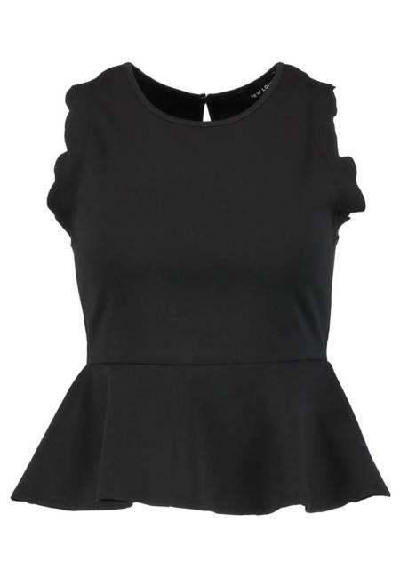 New Look: SCALLOP PEPLUM - Top - black