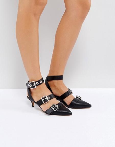 ASOS - SHANGHAI - Schuhe mit Kitten-Heel-Absatz - Schwarz