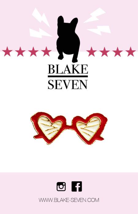 BLAKE SEVEN: HEART EYES PIN