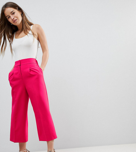 ASOS Petite: ASOS PETITE - Tailored - Länger geschnittener Hosenrock - Rosa