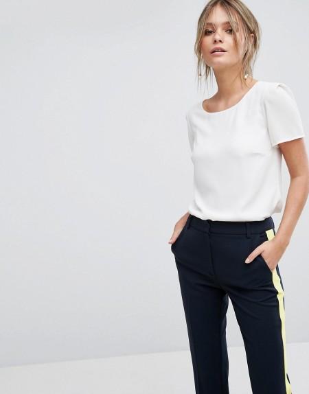 Oasis - Formelles T-Shirt - Weiß