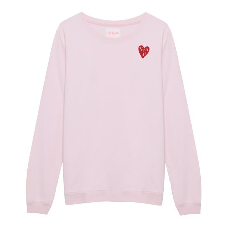 Oh Yeah! Clothing: Heart 22 Sweater Pink
