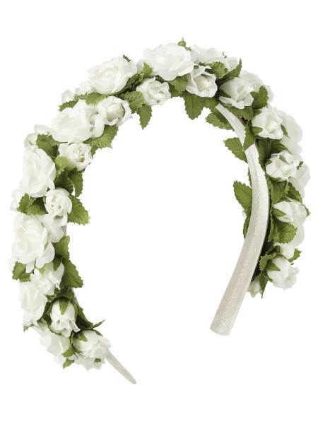 LIMBERRY Weißer Hochzeits-Blumenkranz – MEGAN weiß