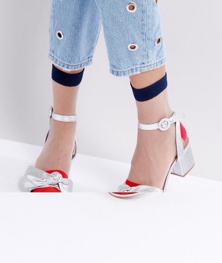 ASOS - Transparente Socken mit Farbblockdesign - Mehrfarbig