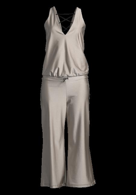 Casall Lacing jumpsuit - Powder metallic