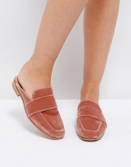 Free People - Loafer aus Samt - Rosa