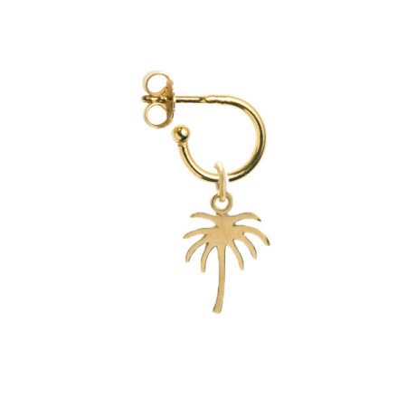 blue billie: Palm Small Hoop Earring Gold Plated