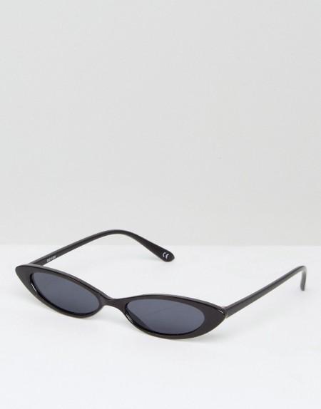 ASOS - Kleine Sonnenbrille mit Katzenaugendesign - Schwarz