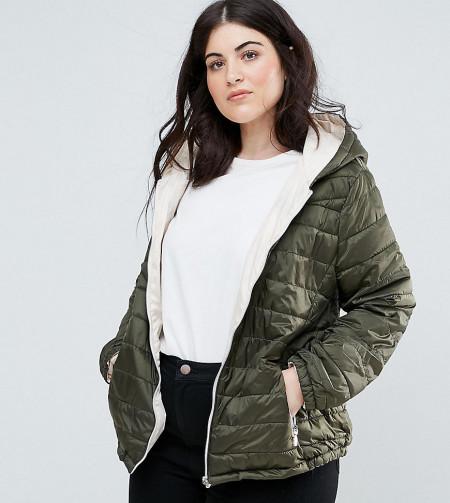 New Look Plus: New Look Curve - Wattierte, leichte Jacke - Grau