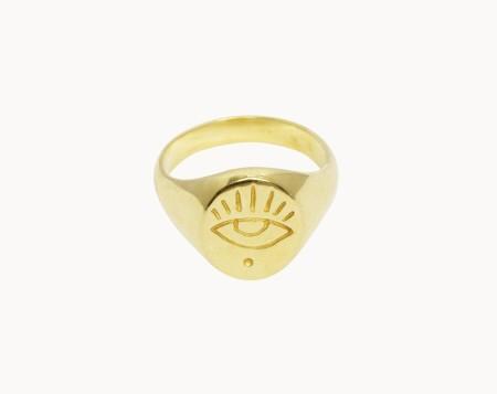Flawed Eye Ring Gold