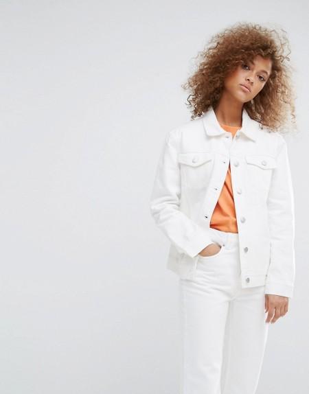 Weekday - Double - Jeansjacke - Weiß