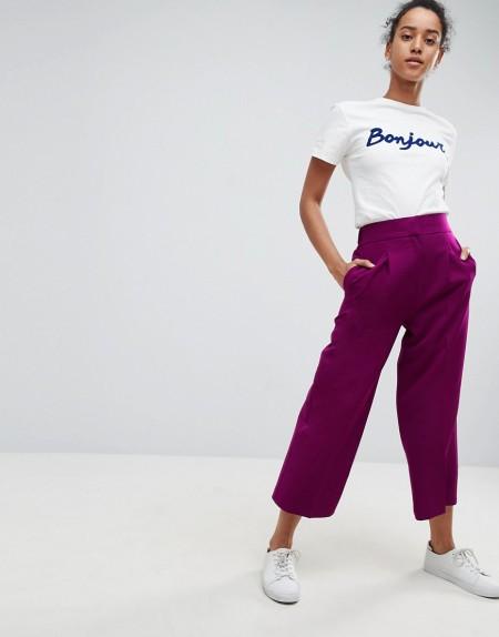 ASOS Tailored - Hosenrock mit längerem Schnitt - Violett