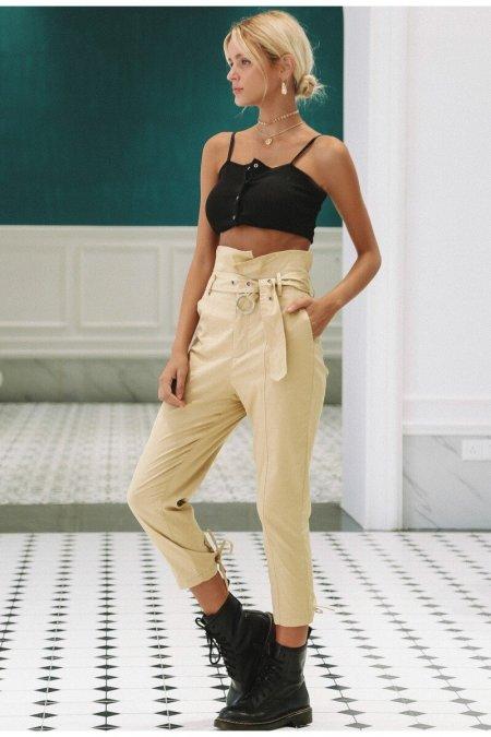 Fashion Movements: High waist capri ankle pants