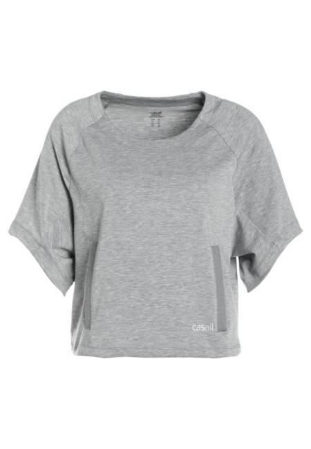 Casall: BOXY CREWNECK - T-Shirt print - grey melange