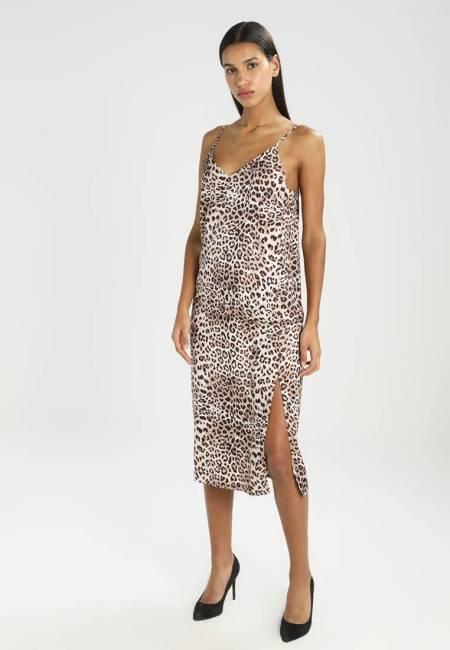 NA-KD: MIDI SLIP LEO DRESS - Freizeitkleid - leopard