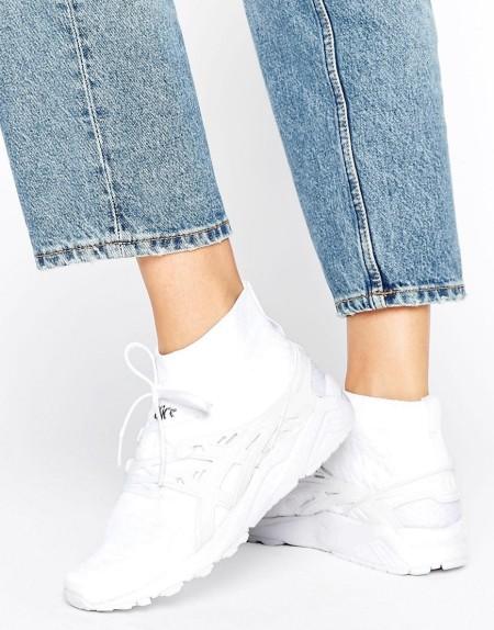 ASICS: Asics - Knit Mid Gel-Kayano - Sneaker in Weiß - Weiß