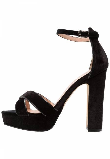 Even&Odd: High Heel Sandaletten - black
