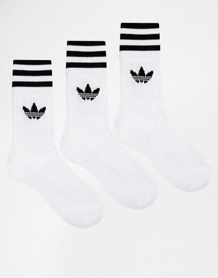adidas Originals - Einfarbige Socken - Weiß