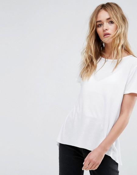 CHEAP MONDAY: Cheap Monday - Asymmetrisches geripptes T-Shirt - Weiß