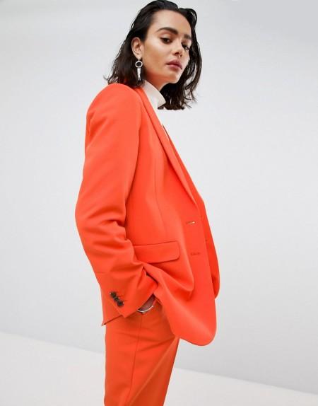 ASOS Tailored - Mansy - Übergroßer Unisex-Blazer - Orange