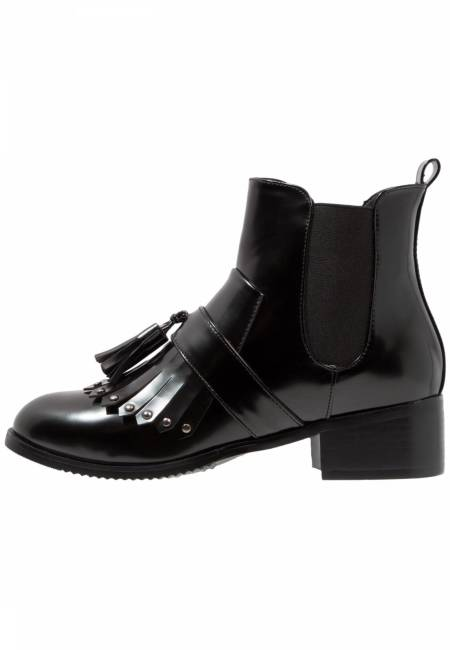 LOST INK: DEMI FRINGED - Ankle Boot - black