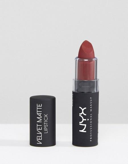 NYX Professional Makeup: NYX Professional Make-Up - samtiger matter Lippenstift - Rot