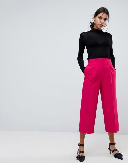 ASOS Tailored - Hosenrock mit längerem Schnitt - Rosa
