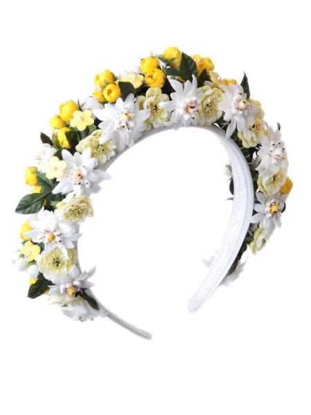 LIMBERRY Blumenkranz – EDELWEIß weiß