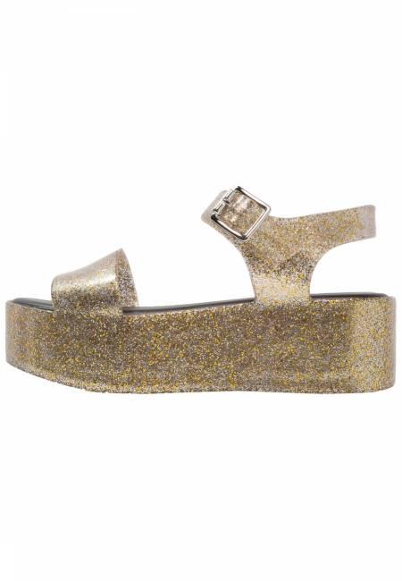 Melissa: MAR - Plateausandalette - gold glitter