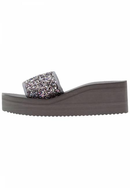 flip*flop: POOL WEDGE GLITTER - Pantolette hoch - multicolor