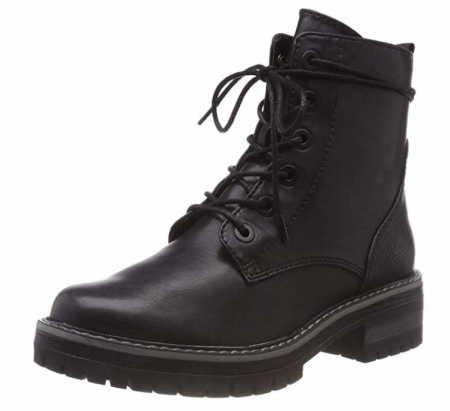 JANA: Jana Schnür-Stiefeletten schwarz Woms Boots 36