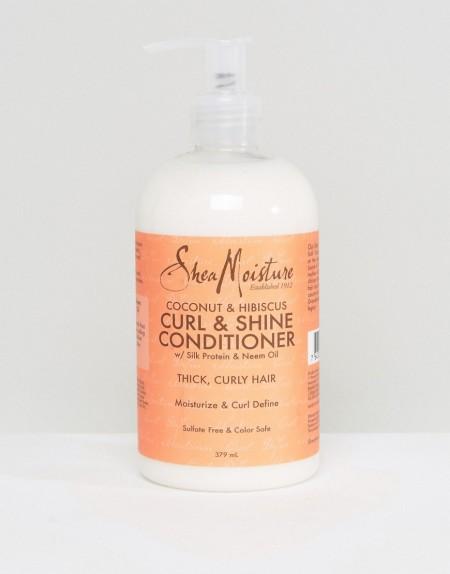 Shea Moisture - Die Locken verbessernde und Glanz verleihende Pflegespülung mit Kokosnuss und Hibiskus - Transparent
